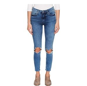 Free people busted knee jean